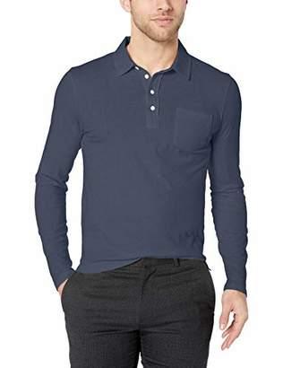 Billy Reid Men's Long Sleeve Pensacola Polo Shirt with Pocket