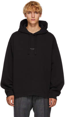 Acne Studios Black Distressed Logo Hoodie