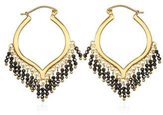 Satya Jewelry Pyrite Plate Chandelier Hoop Earrings