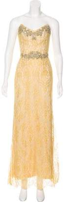 Marchesa Beaded Evening Dress