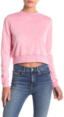 Love, Fire Washed Cropped Sweatshirt