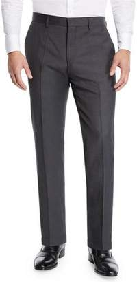 BOSS Men's Solid Wool Trousers with Pocket Trim