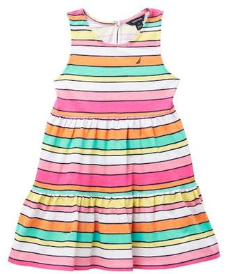 Nautica Striped Tiered Flounce Dress (Toddler Girls)