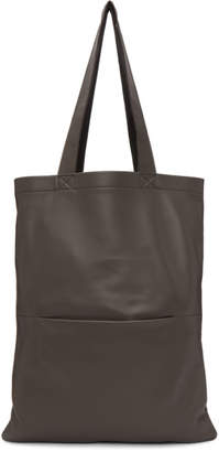 Rick Owens Grey Signature Leather Tote