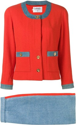 Chanel Pre-Owned two-tone skirt suit