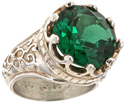 Helena Emerald Crystal Ring