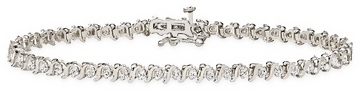 1 Carat Diamond 10K White Gold Tennis Bracelet