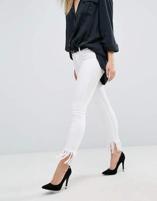 Blank NYC Crop Skinny Jean with Extreme Unravelling
