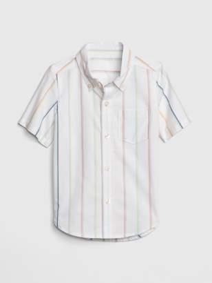 Gap Toddler Stripe Short Sleeve Shirt