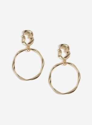 Miss Selfridge Gold Look Organic Drop Earrings
