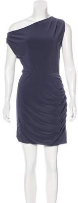Halston Bateau Neck Draped Dress