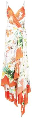 Carolina Herrera floral wrap maxi dress