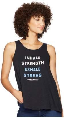 Life is Good Inhale Strength Breezy Tank Top Women's Sleeveless
