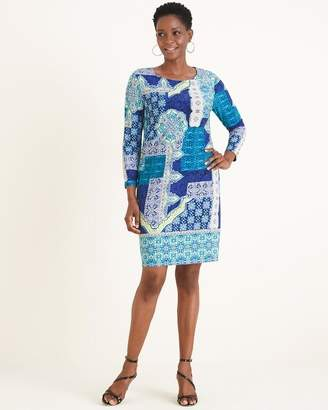 Chico's Chicos Patchwork Tile-Print Dress