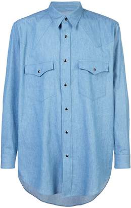 Julien David patch pocket shirt