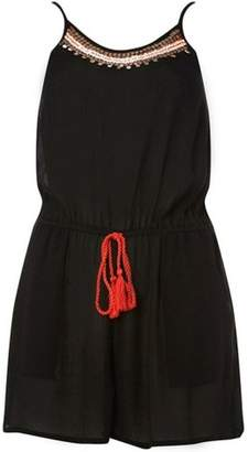 Dorothy Perkins Womens *DP Beach Black Coin Detail Beachwear Playsuit