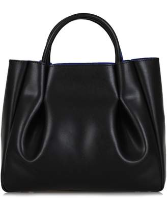 Alexandra de Curtis Ashley Midi Ruched Tote Black