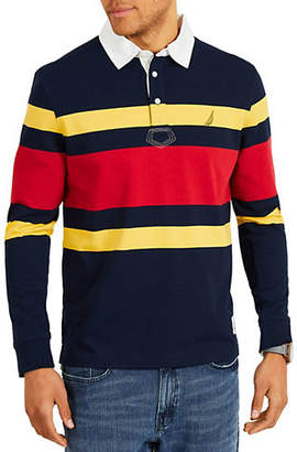 Nautica Classic-Fit Rugby Striped Cotton Polo