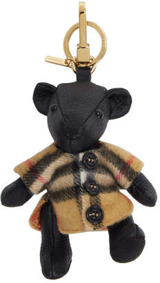 Burberry Black Vintage Check Thomas Bear Keychain