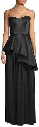 Lanvin Women's Asymmetric Peplum Gown