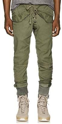 Greg Lauren Men's Cotton Canvas Lounge Pants - Olive