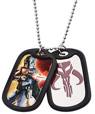 Star Wars Jewelry Boba Fett Stainless Steel Double Dog Tag Men's Pendant Necklace