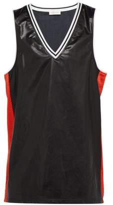 Faith Connexion Leather Effect Basketball Tank Top - Mens - Black