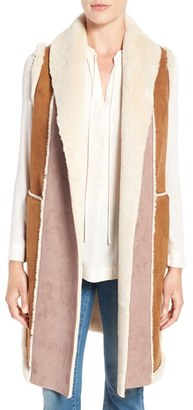 Women's French Connection Long Faux Shearling Vest $158 thestylecure.com