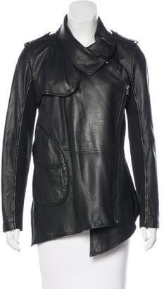 Yigal Azrouel Leather Asymmetrical Jacket