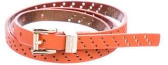 Michael Kors Perforated Narrow Belt Orange Perforated Narrow Belt