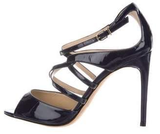 Alexandre Birman Patent Leather Multistrap Sandals