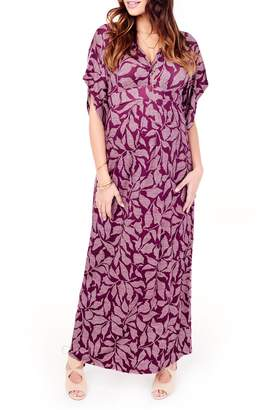 Ingrid & Isabel R Split Kimono Sleeve Maternity Maxi Dress