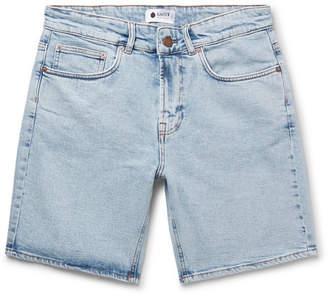 NN07 Slim-Fit Washed Stretch-Denim Shorts