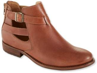L.L. Bean L.L.Bean Westport Sandalized Leather Ankle Boots