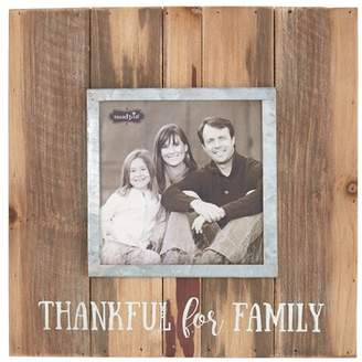 Mud Pie Thankful for Family Distressed Picture Frame