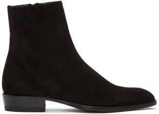 Saint Laurent Black Suede Wyatt Boots
