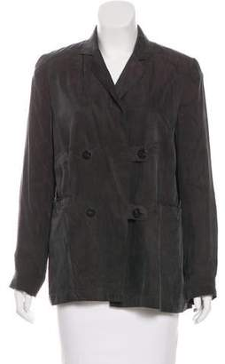 Nicole Miller Double-Breasted Structured Jacket