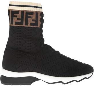 Fendi Runaway Hi-top Sneakers