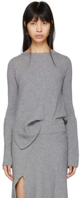 Stella McCartney Grey Bell Sleeve Sweater