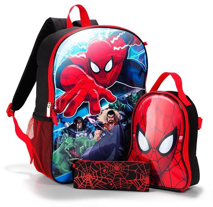 Marvel's Spider-Man 3-Piece Backpack Set