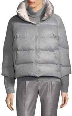 Peserico Zip-Front Puffer Jacket