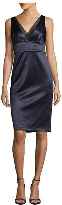 Vera Wang Women's V-Neck Satin Dress