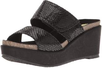 Volatile Women's Sateen Wedge Sandal
