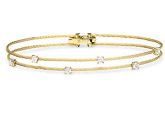 Paul Morelli 18K Double-Wire Bracelet with Diamond Oval Stations