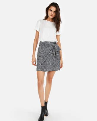 Express Short Sleeve Tie Front Wrap Dress