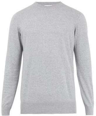 Raey Crew Neck Cotton Knit Sweater - Mens - Grey