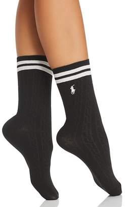 Ralph Lauren Embroidered Cricket Sweater Socks