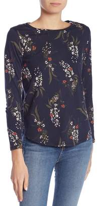 Joe Fresh Long Sleeve Floral Print Tee