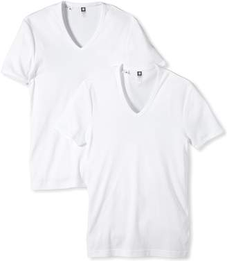 G Star G-Star Men's 2 Pack V-Neck Short Sleeve T-Shirt