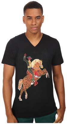 Life is Beautiful Neon Horse - V-Neck Tee T Shirt